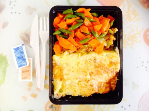 Cottage Pie, Green beans and Carrots.JPG